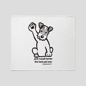 Jack Russell Greeting Throw Blanket
