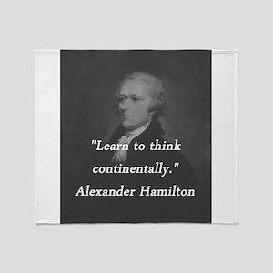 Hamilton - Learn to Think Throw Blanket