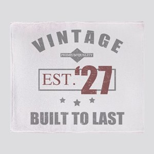 Vintage 1927 Birth Year Throw Blanket