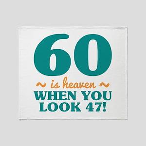 Sassy 60th Birthday Throw Blanket