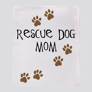 Rescue Dog Mom Throw Blanket