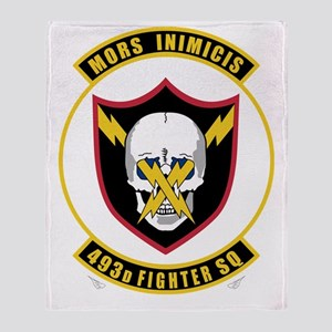 493rd Fighter Squadron Throw Blanket