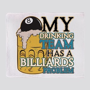 Billiards Drinking Team Throw Blanket
