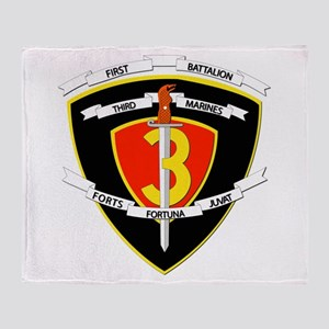 SSI - 1st Battalion - 3rd Marines Throw Blanket