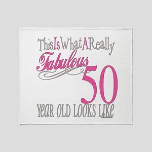Fabulous 50th Birthday Gifts Throw Blanket