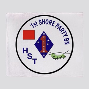 USMC - 1st Shore Party Battalion Throw Blanket