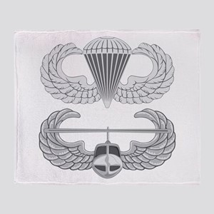 Airborne and Air Assault Throw Blanket