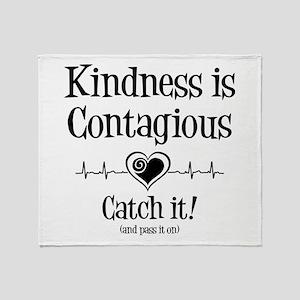 CONTAGIOUS KINDNESS Throw Blanket