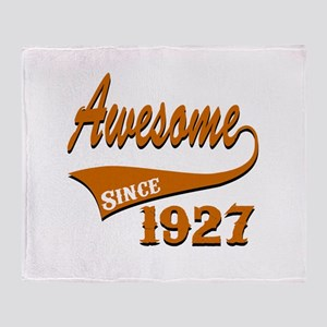 Awesome Since 1927 Birthday Designs Throw Blanket