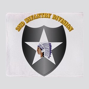 SSI - 2nd Infantry Division with Text Throw Blanke