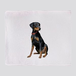 Doberman (nat1) Throw Blanket