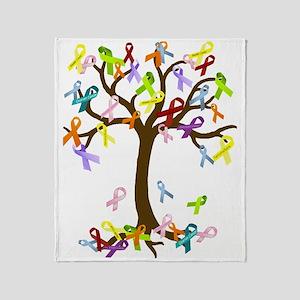 Ribbon Tree Throw Blanket