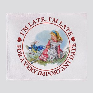 I'm Late , I'm Late, For a Very Impo Throw Blanket