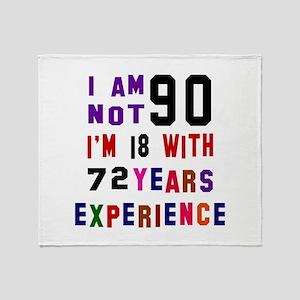 90 Birthday Designs Throw Blanket