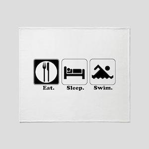 Eat. Sleep. Swim. Throw Blanket