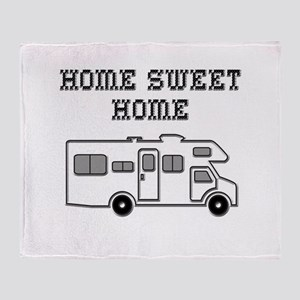 Home Sweet Home Mini Motorhome Throw Blanket