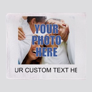 Custom Photo and Text Throw Blanket