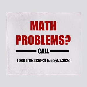 Math Problems Throw Blanket