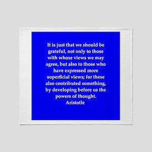 Wisdom of Aristotle Throw Blanket