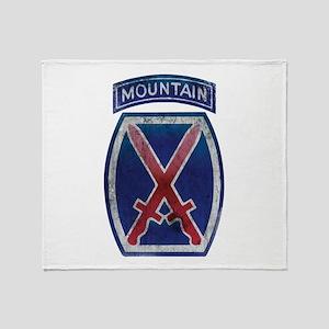 10th Mountain Division - Clim Throw Blanket