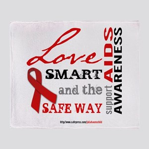 AIDS Awareness Throw Blanket
