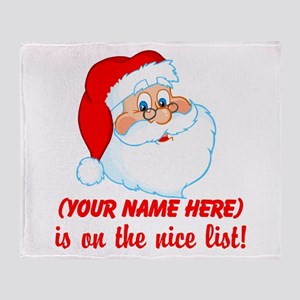 Personalized Nice List Throw Blanket