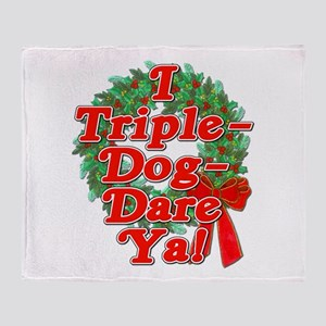 Triple Dog Dare A Christmas Story Throw Blanket