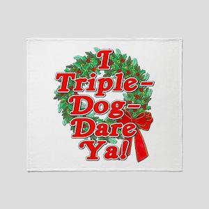 Triple Dog Dare A Christmas Story Throw Blanket