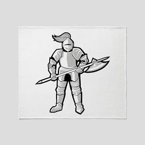 Statue of Armor Throw Blanket