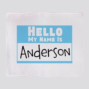 Personalized Name Tag Throw Blanket