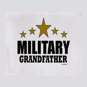 Military Grandfather Throw Blanket