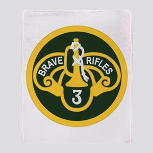 3rd Armored Cavalry Throw Blanket
