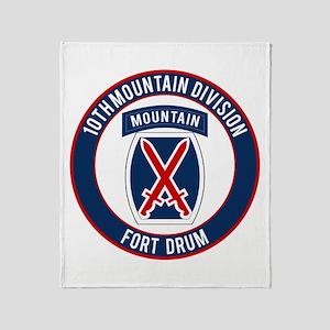 10th Mountain Ft Drum Throw Blanket
