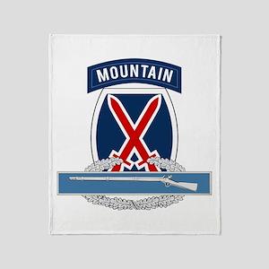 10th Mountain CIB Throw Blanket