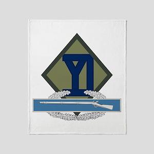 26th Infantry CIB Throw Blanket