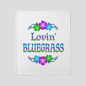 Lovin Bluegrass Throw Blanket