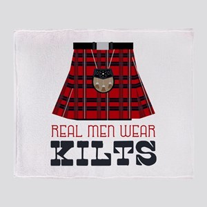 Real Men Wear Kilts Throw Blanket