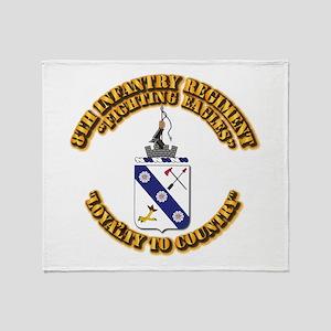 COA - 8th Infantry Regiment Throw Blanket