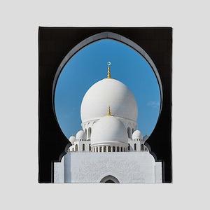 Sheikh Zayed Mosque Throw Blanket