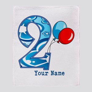 2nd Birthday Personalized Throw Blanket