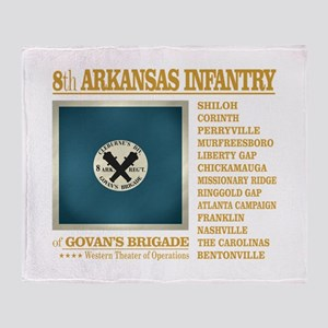 8th Arkansas Infantry (BH2) Throw Blanket