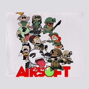 Airsoft Battle Royale Throw Blanket