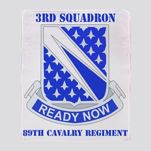 3-89 CAV RGT WITH TEXT Throw Blanket