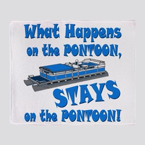 On The Pontoon Throw Blanket