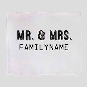Mr. & Mrs. Personalized Throw Blanket