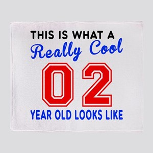 Really Cool 02 Birthday Designs Throw Blanket