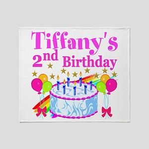 2ND BIRTHDAY Throw Blanket