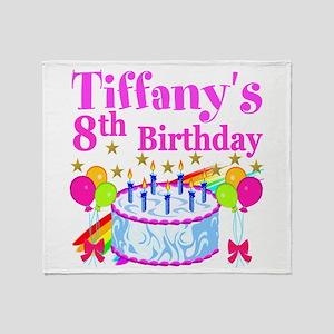 HAPPY 8TH Throw Blanket