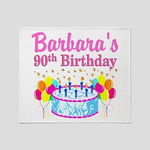 90 AND FABULOUS Throw Blanket