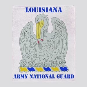 LOUISIANA ANG with text Throw Blanket